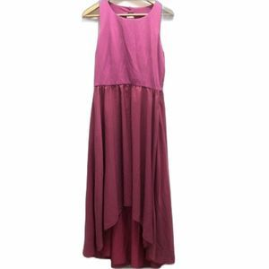 Anthropologie hutch high low maxi dress pink